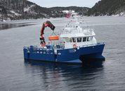 <p>Fartøyet er bygget for å tåle litt røff sjø, ettersom den skal operere på en eksponert Salmar Farming lokalitet.</p>