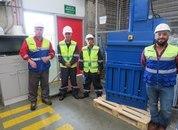 <p>Una de las máquinas para separar residuos reciclables y no reciclables.</p>