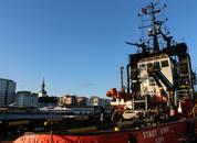 <p>Båten har dimensjoner på 34 x 11, og er utstyrt med to motorer fraWartsila. Foto: Margarita Savinova.</p>