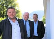 <p>Fra venstre: Anders Sandøy, Odd Einar Sandøy og Jarle Gunnarstein.Foto: Helge Martin Markussen</p>