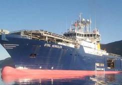Møkster døyper nytt skip
