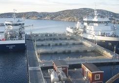 Sølvtrans sine brønnbåter er spesielt utrustet for lukket transport