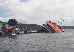 Seikongen: vaciarán bodegas antes de analizar si reflotan el barco
