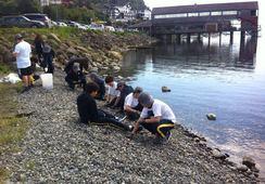 Alumnos de colegios de Puerto Varas dedican jornada a la limpieza de la playa