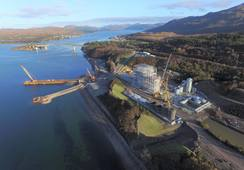 Marine Harvest feed plant from high in the Skye