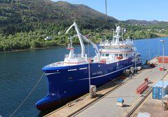 Se bilder av slaktebåten «Aqua Merdø»