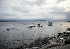 Hevingen av «Helge Ingstad» i gang igjen