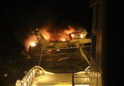 Reddet fra fiskebåt i brann