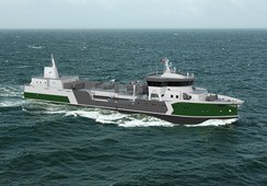 Brønnbåten «Hordagut» er på vei til Norge