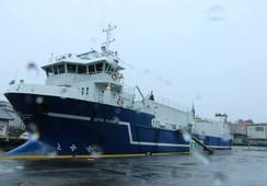 Bli med om bord på fôrbåten «Artic Fjord»