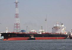 Frontline-skip brenner i Omanbukta