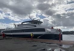 Her flyter nye «Fjorddronningen» for første gang