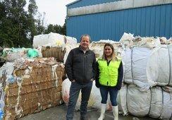 El trabajo para evitar que residuos salmonicultores terminen en vertederos