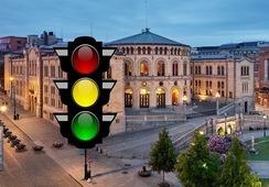 Slik kan trafikklyssystemet slå ut i rød sone