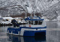 Ny oppdrettskatamaran overlevert til Lofoten Sjøprodukter