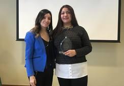 Operaria de BluRiver es reconocida con el premio Mujer Pionera 2019