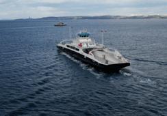 MF «Eresfjord» på vei til Norge