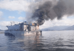 Mowi Chile probes cause of feed barge blaze