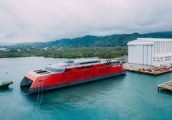 Fjord Lines nye katamaran er sjøsatt
