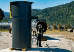 Jaula semicerrada de Cermaq toma forma en Canadá