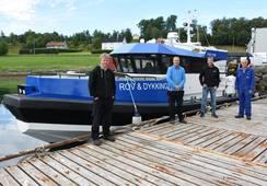Ny dykkerbåt overlevert til Frøy Vest