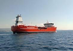 Ny brønnbåt på vei til Norge