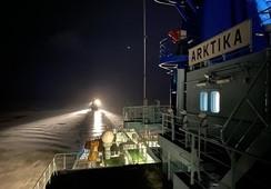 Atomdrevet isbryter gjør sin første tur