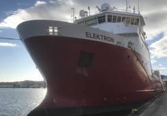 Ukens skipsbesøk:  MS «Elektron»