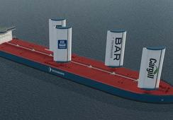 Yara og Bar med seil til skip