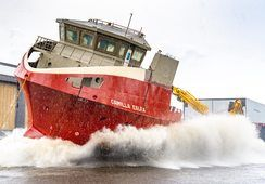 Video: watch Scottish fish farming's newest vessel make waves