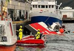 Sjark med 10.000 liter diesel om bord gikk ned