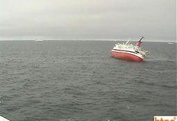 Cruise skip synker utenfor Argentina