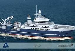 Skipsteknisk designer avansert forskningsfartøy for den chilenske marine.