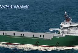 Ny kontrakt på levering av design til bygging av et Havyard 832 CD plattform forsyningsskip