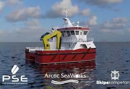 Arctic Seaworks kontraherer arbeidskatamaran