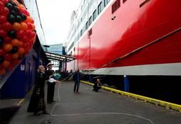 Fjord Lines «Oslofjord» døpt i feststemt Sandefjord