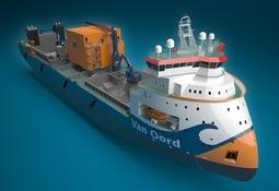 Designpakke til eit steindumpingsfartøy