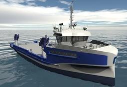 Verdens største havbruk servicefartøy