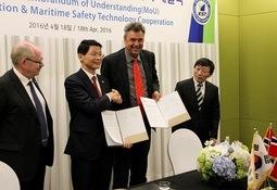 Norge og Sør-Korea vil samarbeida om skipstryggleik