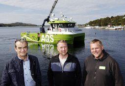 Nytt fartøy overlevert fra Folla Maritime Service til AQS