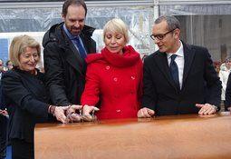 Isbryteren «Kronprins Haakon» sjøsatt
