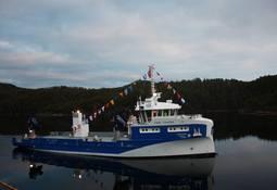 Verdens største havbruk servicefartøy overlevert på Sletta Verft