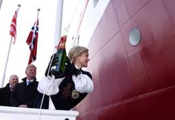 Døpte brønnbåten MS Namsos i helgen