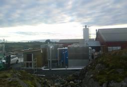Smøla reduserer utslippene med over 50% med biogassanlegg