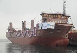 LNG-drevet fôrfartøy på sjøen i Tyrkia