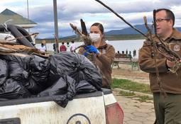 Puerto Natales: Retiran más de 30 metros cúbicos de basura de la playa