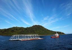 Sitecna destaca los muelles flotantes como aporte al país