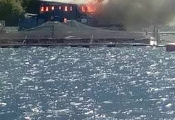 Incendio afectó centro Izaza de Camanchaca