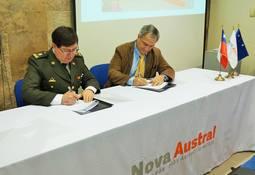 Nova Austral firma nuevo convenio con Bomberos de Porvenir