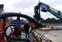 Autoridades detallan proceso de descarga de salmones de Seikongen